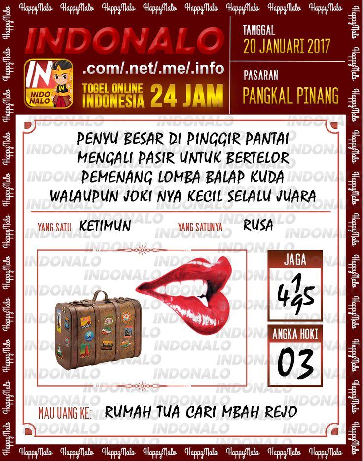 Nomer Hoki 4D Togel Wap Online Live Draw 4D Indonalo Pangkal Pinang 20 Januari 2017
