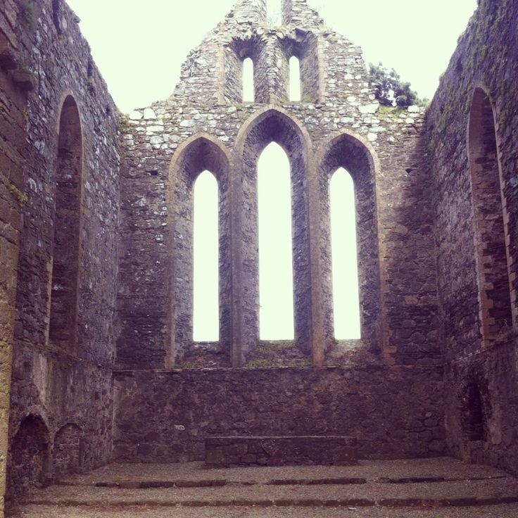 Alter space and fabulous gothic windows at Dunbrody Abbey.
