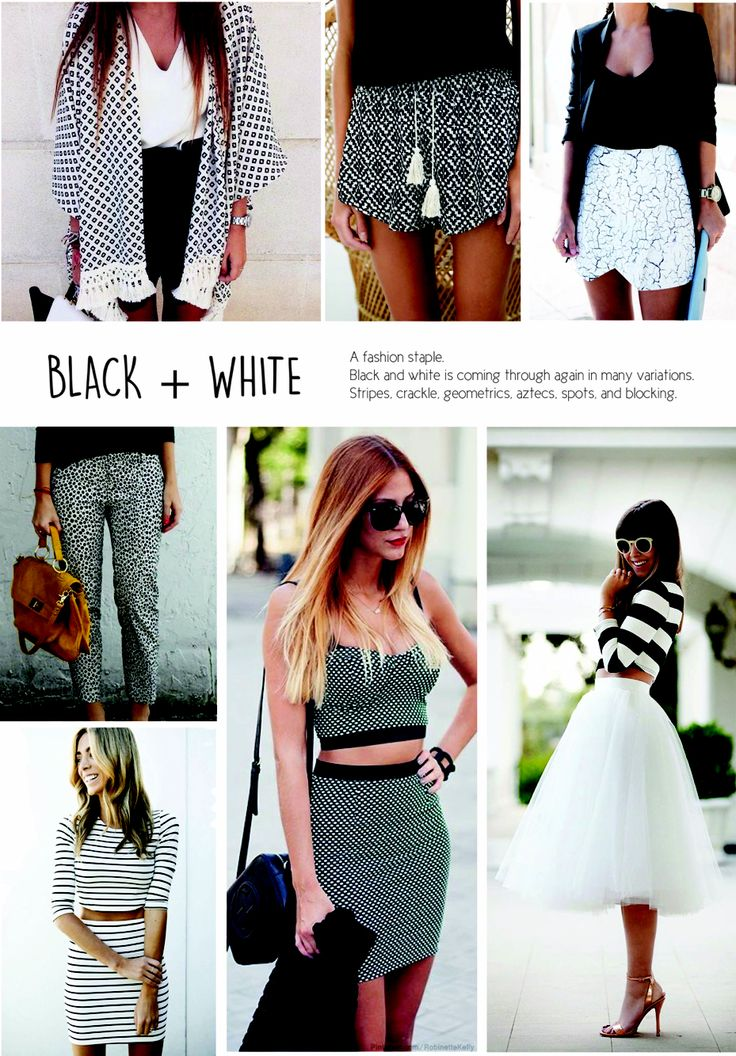 SS15 Women's fashion. Monochrome, Black & White