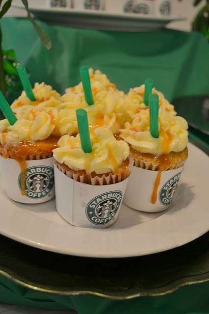 starbucks cupcakes - such a cute idea!