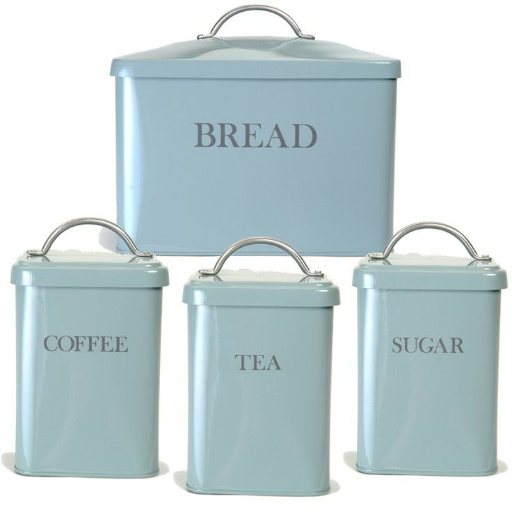 Bread Bin and Canister Set - Shutter Blue
