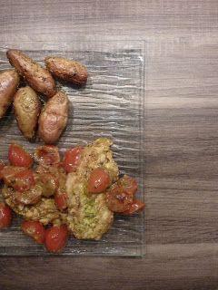 Blog de recettes Weight Watchers Propoint... Ou pas!: Poulet au pesto et tomates cerises - Weight Watchers Propoints