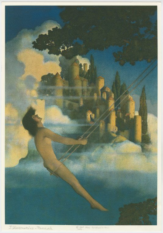 My other favorite Maxfield Parrish.  When i was growing up i thought it was a picture someone had done of my mother and it never bothered me she was naked.  but it wasnt my mother.