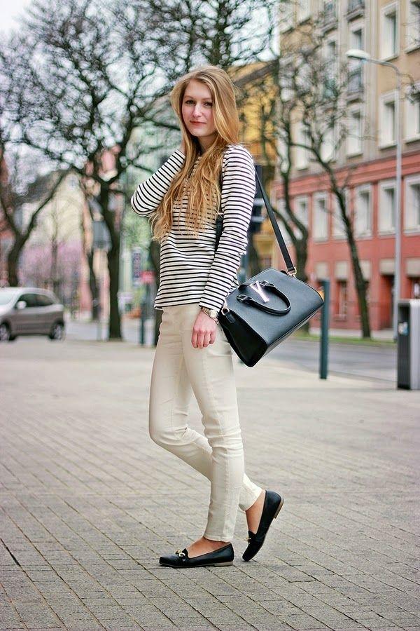 Białe dżinsy Lee w stylizacji od http://www.simplythebest.co!