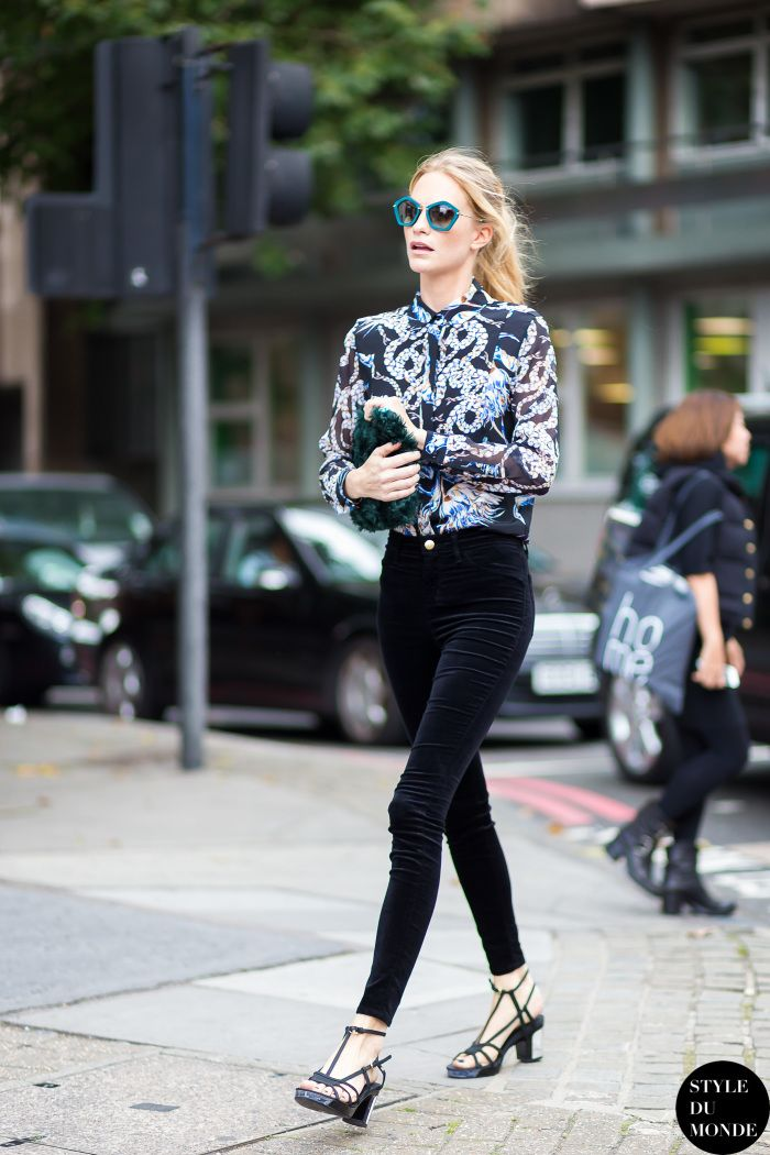 London FW SS15 Street Style: Poppy Delevingne - STYLE DU MONDE | Street Style Street Fashion Photos