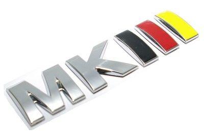 "VW Golf Jetta Vento MK3 Rear Trunk Badge Emblem "" mkiii "" German Flag Colors New | eBay"