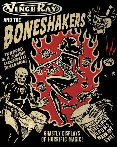 Vince Ray and Bone Shakers ♠ | Rockabilly art, Rock ...