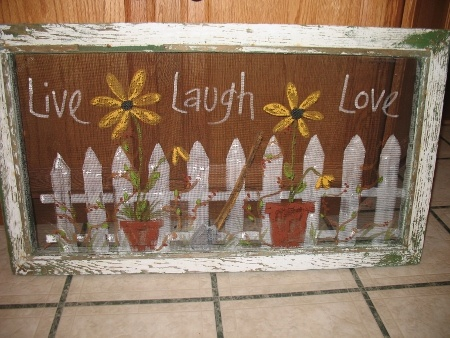 Hand painted screen