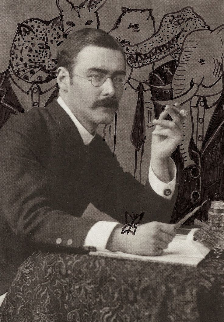 Rudyard Kipling (1865 – 1936) was an English poet, short-story writer, and novelist chiefly remembered for his celebration of British imperialism, tales and poems of British soldiers in India, and his tales for children. Kipling received the Nobel Prize for Literature in 1907.