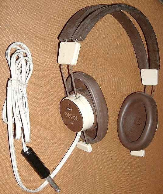 The annual hearing test taken with headphones like these. :)