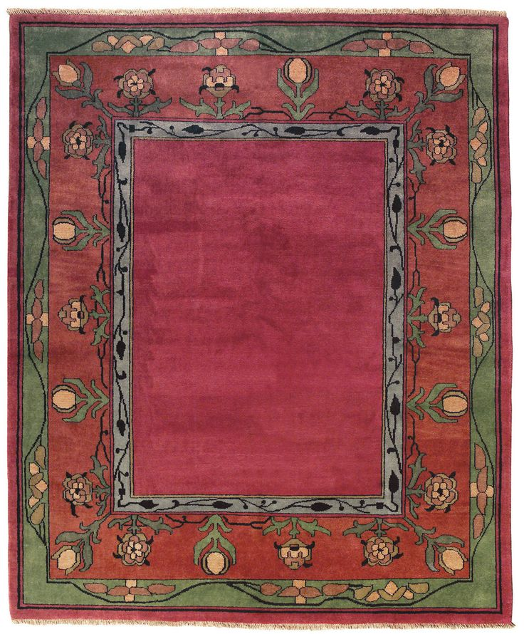 The Mission Motif  - The Voysey Border Rug PC-8A , $264.00 (http://www.missionmotif.com/the-voysey-border-rug-pc-8a/)