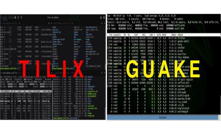 Tilix y Guake disponibles desde PPA para Ubuntu - https://ubunlog.com/tilix-y-guake-ubuntu/