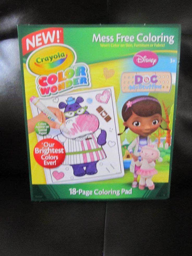 crayola color wonder doc mcstuffins drawing pad mess free 18 pages crayola - Crayola Online Drawing