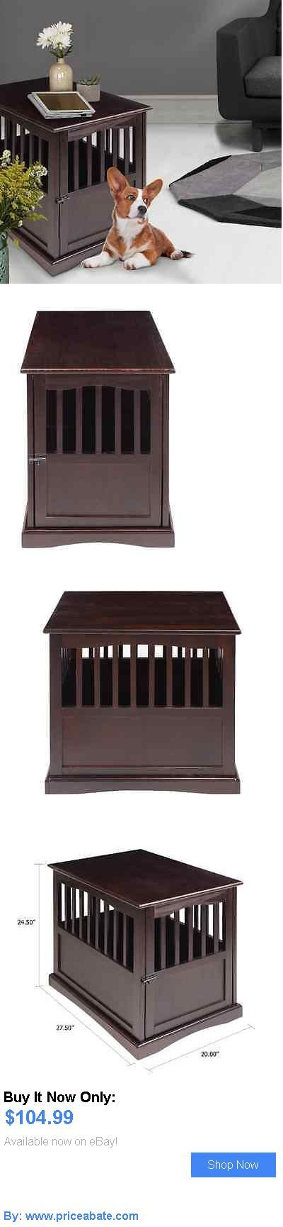 Animals Dog: Dog Crate End Table Solid Wood Pet Kennel Indoors Stylish Small Espresso Safe BUY IT NOW ONLY: $104.99 #priceabateAnimalsDog OR #priceabate