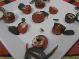 Tomate Cereja Recheado com Queijo de Cabra