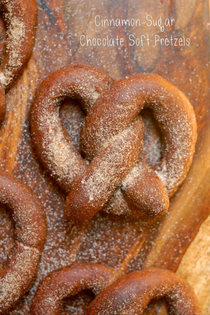 kumquat: Cinnamon-Sugar Chocolate Soft Pretzels - gluten free