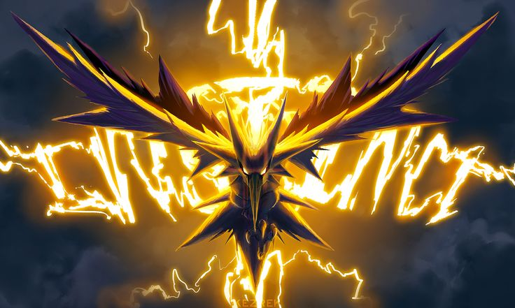 Vídeo Game Pokemon GO  Team Instinct Zapdos (Pokemon) Papel de Parede