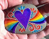 What Love Feels Like / painted rock / Sandi Pike Foundas / beach stone from Cape Cod / sea stone