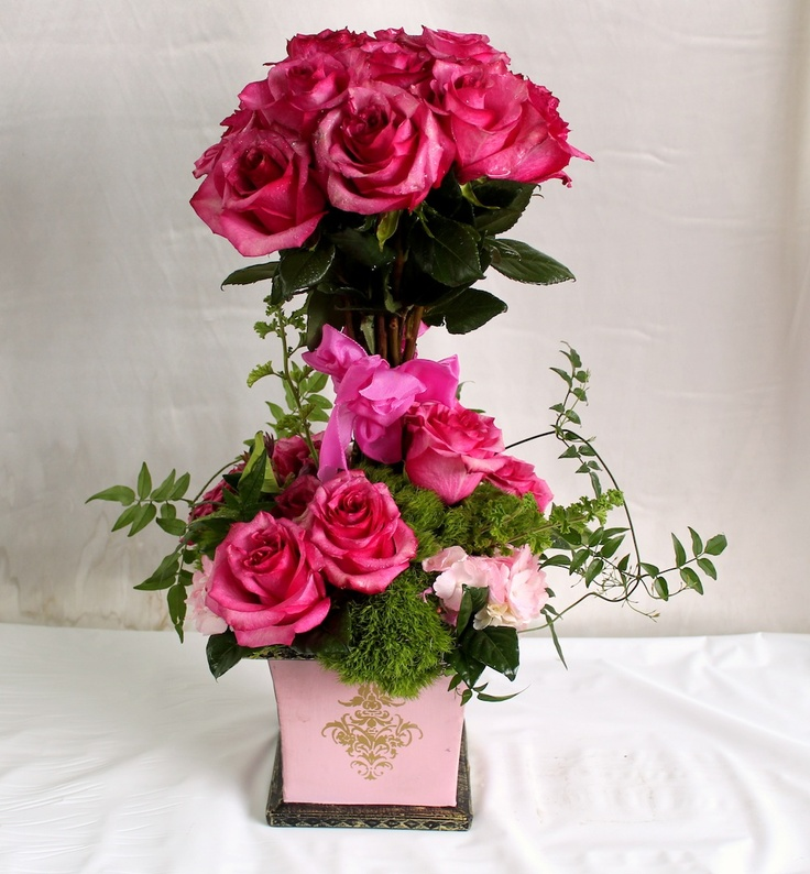 31 best valentine 39 s day flower arrangement images on for Valentines day flower ideas