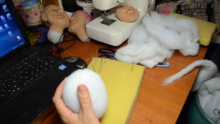 мастер класс по изготовлению скульптурной -текстильной куклы ч. 1