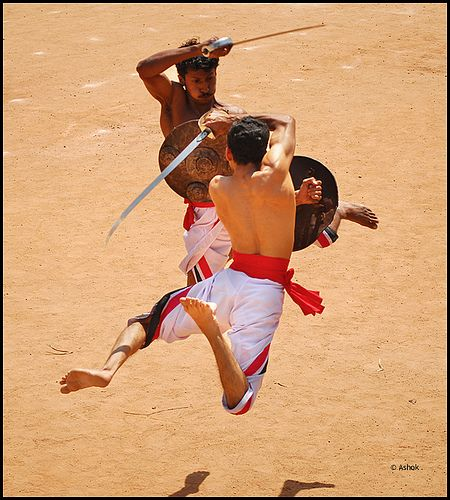 Athletes practising Kalaripayattu - an Eternal Indian Martial Arts | via Undiscovered Indian Treasures