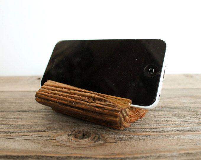 Teléfono base, soporte, soporte de madera del teléfono, iPhone Dock, Night Stand, soporte para teléfono, Docking Station, regalo de la tecnología de madera del teléfono