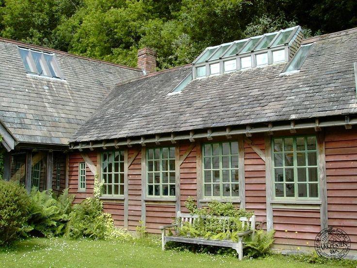 Douglas Fir Timber Framed Studio Extension With Glazed Roof Lantern By  Carpenter Oak Ltd