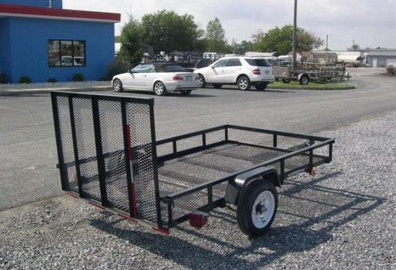 Transport all your farming tools in one of our landscape utility trailers.
