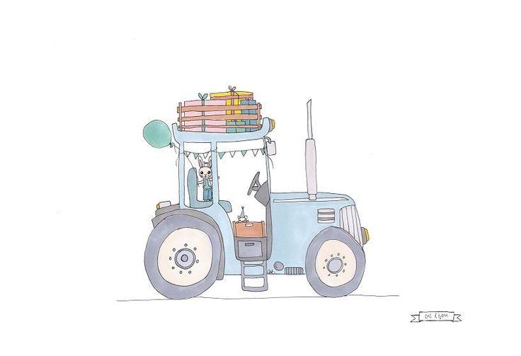 Pretty tractor via cat