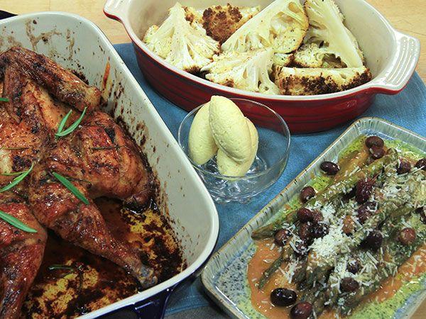 Hel kyckling med smörbakad blomkål | Recept från Köket.se