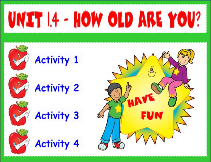 FREE Smart Board activities (cardinal numbers, age and verb to be)