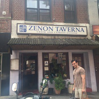 Zenon Taverna - Astoria, NY, United States. Street view of the restaurant.
