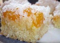Mandarinkový koláč s kokosem