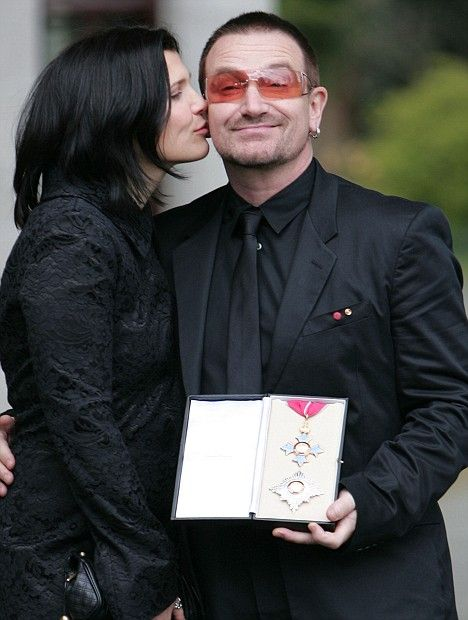 Bono and his wife Alison.