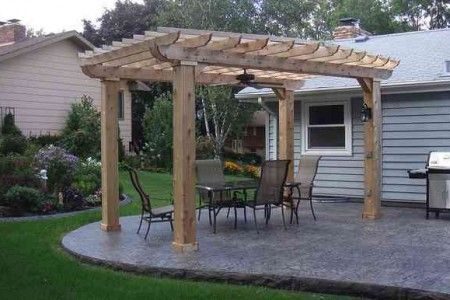 pergola and stamped concrete google search brick patio images pinterest stamped concrete. Black Bedroom Furniture Sets. Home Design Ideas