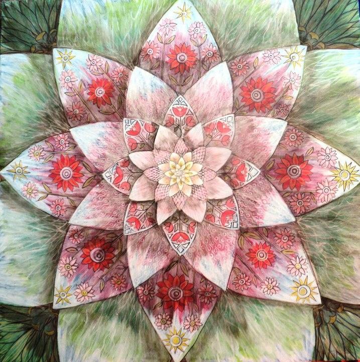 Flower Mandala by Adriana Uribe Nuñez