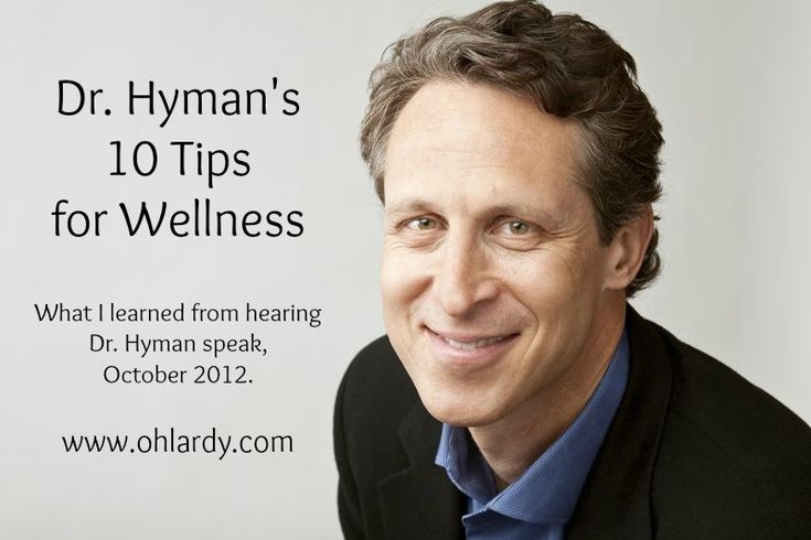 Tips for health and wellness from Dr. Mark Hyman.  Let's heal our bodies not just treat the symptoms!