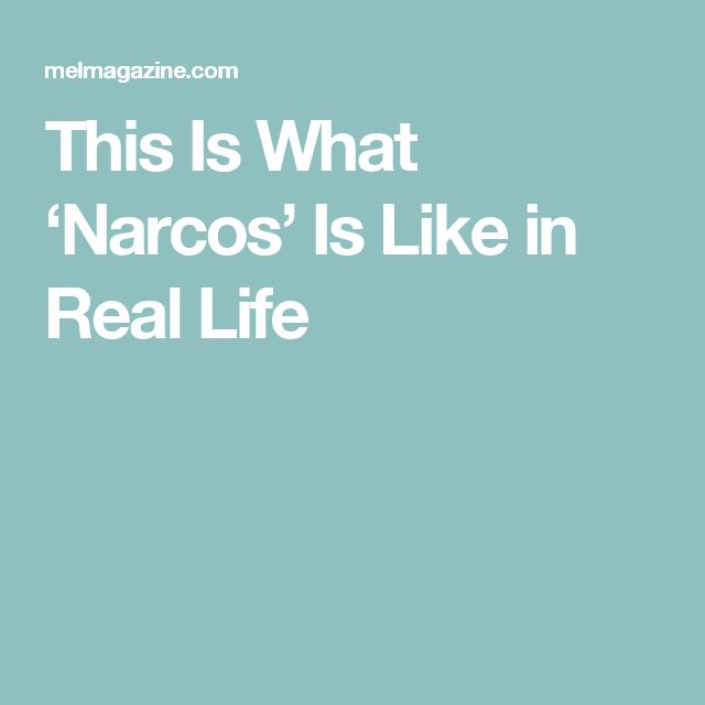 This Is What 'Narcos' Is Like in Real Life