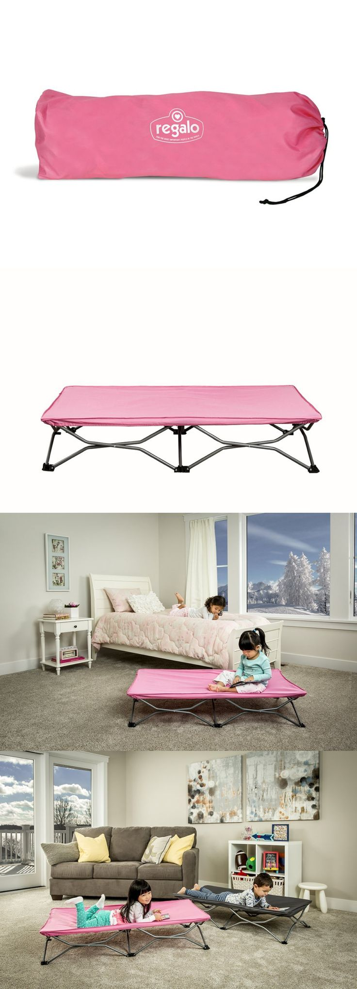 Cots 87099: Regalo My Cot Portable Toddler Bed, Includes Fitted Sheet And Travel Case, Pink -> BUY IT NOW ONLY: $30.4 on eBay!
