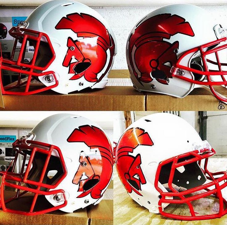 Check out these awesome football helmet decals we printed