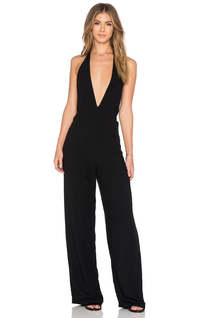 Buy motel coco backless bodycon dress in hot pink at motel rocks - Motel Sakha Jumpsuit In Black