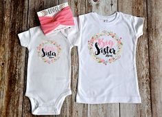 Big Sister Little Sister Outfit  / Headbands Optional / by iloveco