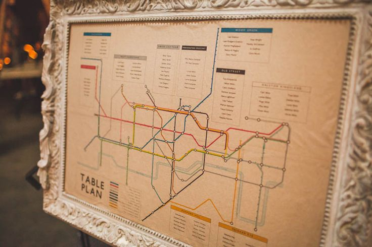 Tube table plan.  An East London Wedding with an Industrial Vibe: Bianca & Paul · British Brides · Wedding · Rock n Roll Bride