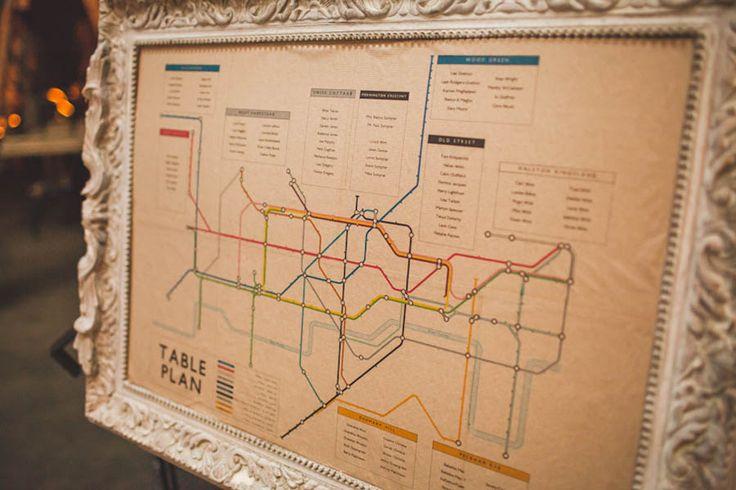 table plan avec le plan du métro de Paris ?