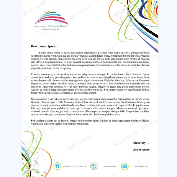 26 best Letterhead Templates images on Pinterest Printing - free microsoft word letterhead templates
