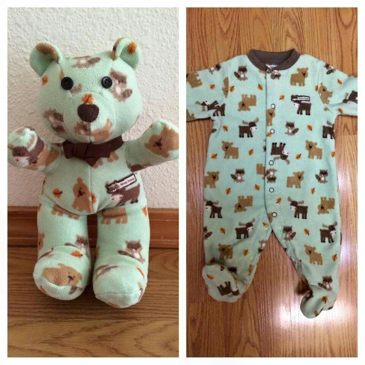 Woofie....bear made from baby's first jammies..