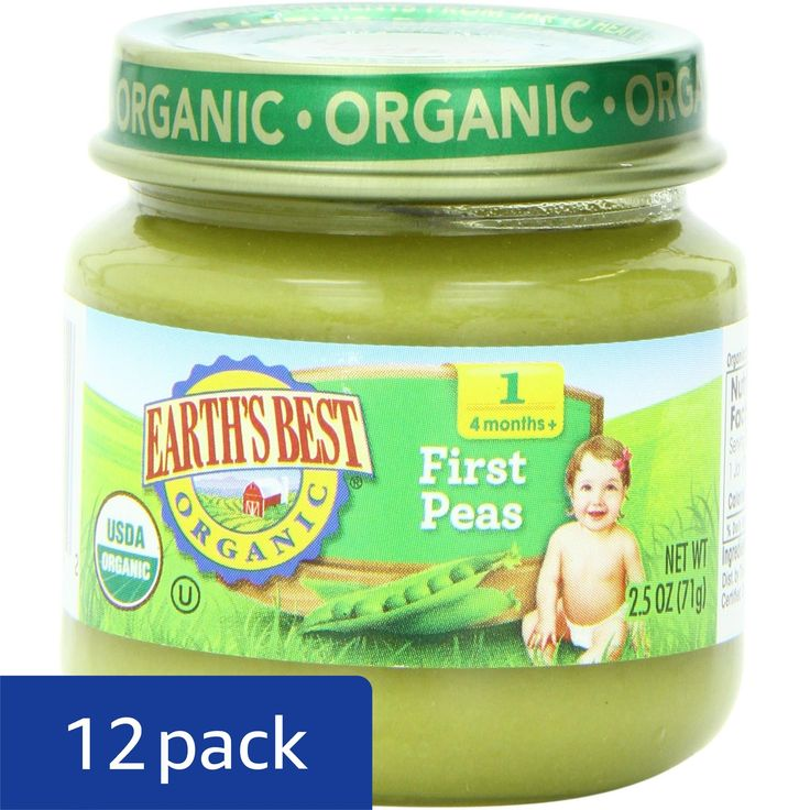 Earths best organic stage 1 baby food peas 25 ounce jars