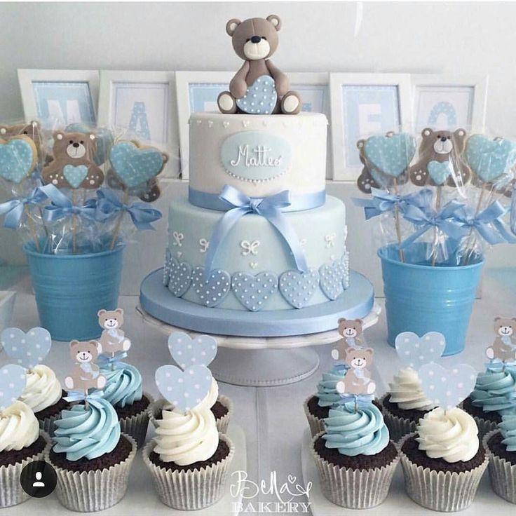 #cake #kake #inspirasjon #baby #cupcakes #teddybear #bamse  #detlilleekstra #dinbabyshower #nettbutikk #babyshower #dåp #navnefest #fødsel #gravid #dekorasjon www.dinbabyshower.no