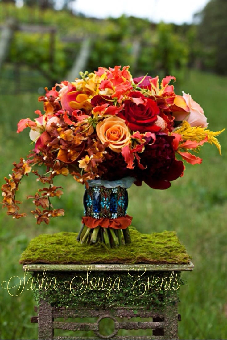 110 best gloriosa images on pinterest floral design floral daily pretty fall toned bridal bouquet with burgundy peony ecuadorian roses calla lily dhlflorist Images