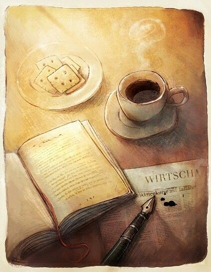A good book and a cup of delicious coffee. Life is wonderful :)